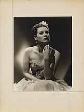 Oversize exhibition portrait of Maureen O'Hara from Dance, Girl, Dance by Ernest A. Bachrach.
