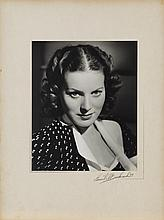 2 oversize exhibition portraits of Maureen O'Hara from Hunchback of Notre Dame by Ernest A. Bachrach