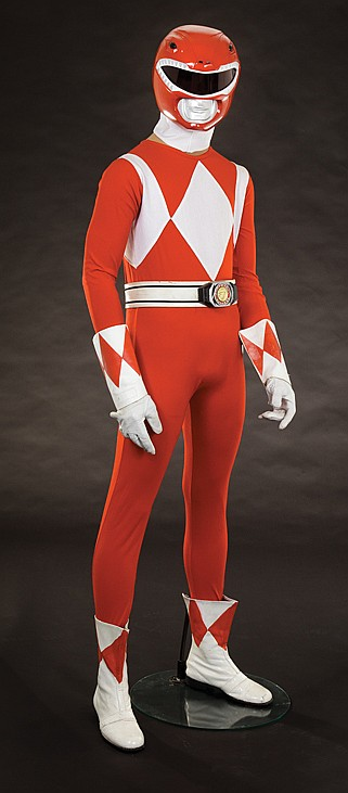 Original Red Ranger costume from Mighty Morphinu0026#39; Power Range