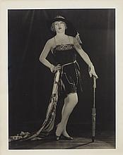Oversize photograph of Mae Murray by Edwin Bower Hesser.