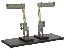Apocalypse Now Huey helicopter tail rotor control pedals signed by Dean Tavoularis.