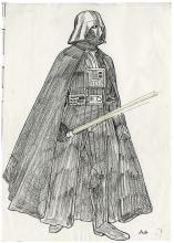 J. Mollo (16) hand-colored prod. Xerox costume designs for Star Wars: The Empire Strikes Back.