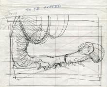 Aliens (4) concept sketches by James Cameron.