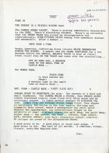 Cujo vintage original script for the Stephen King film.