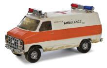 Ghostbusters vintage original ambulance filming miniature.