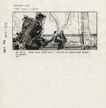 Ghostbusters 2 original storyboard panel.