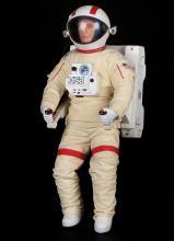 Lifeforce astronaut puppet filming miniature.