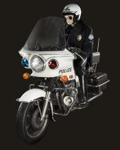 Terminator 2: Judgment Day  T-1000 police Kawasaki motorcycle.