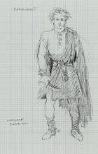 Braveheart  original preliminary (5) costume design sketches.