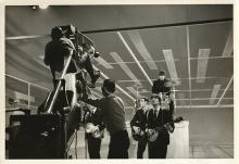 Collection of (11) vintage prints of The Beatles at the  Ed Sullivan Show.