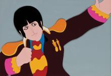 Paul McCartney production cel from Yellow Submarine.