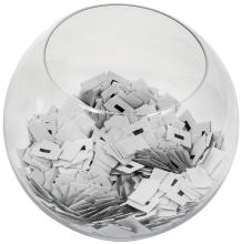 District 12 reaping bowl filled with tickets from  The Hunger Games.