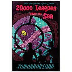 20,000 LEAGUES UNDER THE SEA ATTRACTION POSTER -