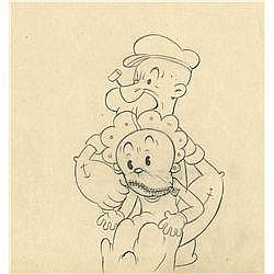 Fleischer Studios Popeye production drawing