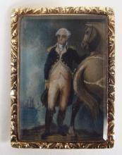 Miniature Portrait Painting George Washington