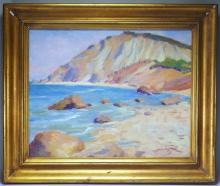Ernest Principato Gayhead Seascape Shore Painting