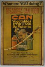 WWI United States Kaiser Can Food Poster