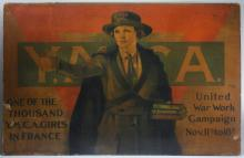 WWI YMCA Girl United War Work Campaign Poster