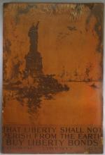 WWI US Statue of Liberty & Planes Loan Bond Poster