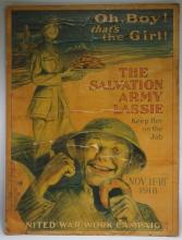 WWI US Woman United War Work Campaign Poster