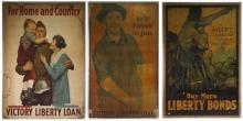 Three WWI US Victory Liberty Loan & Bond Posters