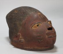African Nigerian Carved Wood Yoruba Gelede Mask
