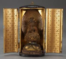 Antique Japanese Edo Period Miniature Zushi Shrine
