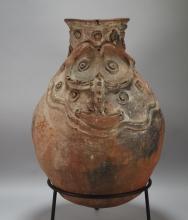 Large Iatmul Papua New Guinea Ceramic Sago Pot