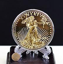GILT SILVER COMMEMORATE COIN