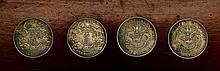 FOUR ANTIQUE SILVER COINS