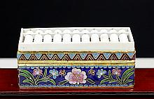 BONE ABACUS ON CLOISONNE ENAMEL BOX