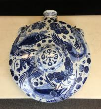BLUE AND WHITE PORCELAIN POT