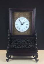 SU-ZHOU STYLE CLOCK WITH ROSEWOOD ENCLOSURE