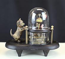 BRONZE KITTEN CLOCK