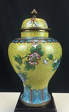 CLOISONNE ENAMEL COVERED POT