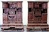 PAIR OF ROSEWOOD ANTIQUE AND CURIO SHELVES