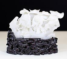 WHITE JADE CARVING