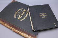 2 Books incl: ASHER & ADAMS' NEW... ATLAS, (1873).
