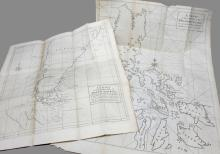 11 maps from: Anson, A Voyage Round the World.