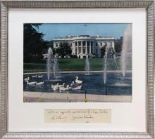John F. Kennedy: 1961 White House Christmas print.