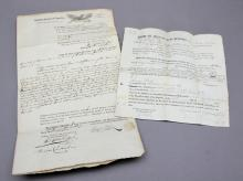 2 items, 1 for a slave transferred for debts.