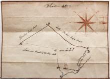 VA Manuscript Map & Survey, Westmoreland, 1855.