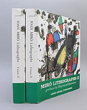 JOAN MIRO: LITHOGRAPHS. Vol II, 2 copies. (1975).