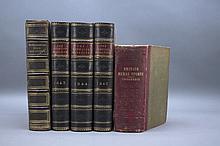 5 Vols incl: MANUAL OF BRITISH RURAL SPORTS.