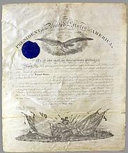 Edwin M. Stanton. Signed commission.