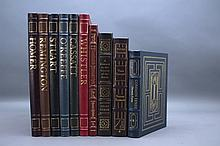 10 Easton Press, incl 7 illustrated books.