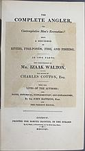 Walton. THE COMPLETE ANGLER. 1815.
