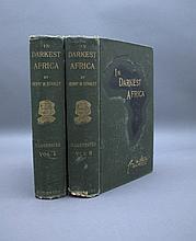 Stanley IN DARKEST AFRICA. 2 Vols 1890. 1st US ed.
