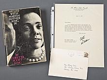 Book signed w/ TLS by Coretta Scott King.