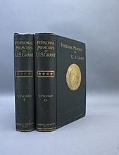 PERSONAL MEMOIRS OF U.S. GRANT.  2 Vols. 1885.